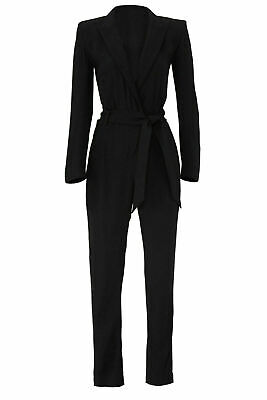 $57.49 • Buy Iro Womens Jumpsuit Black Size 10 (FR 42) Long Sleeve Slim Leg Tuxedo $710- #207