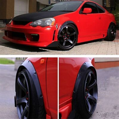 $26.11 • Buy 4Pcs Universal Fender Flares 50mm/75mm Wide Body Kit Wheel Arches Durable PU
