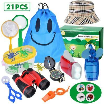 Outdoor Explorer Kit - 21 Pack Kids Bug Catcher Toys Gifts For 3 4 5 6-10 Years • 18.96£