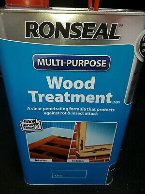 RONSEAL Multi Purpose WOOD TREATMENT 5L Protects From Insects And Woodworm • 30£