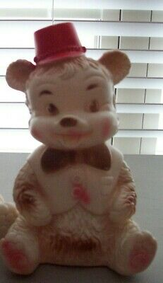 $21 • Buy Vintage Squeaky Squeeze Toy Edward Mobley Circus Bear