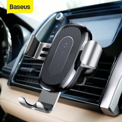 AU23.39 • Buy Baseus Qi Car Wireless Fast Charger Phone Holder Air Vent Mount For IPhone 12