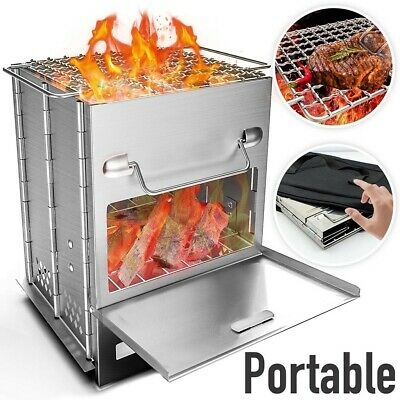 $34.59 • Buy Foldable BBQ Grill Smoker Plans Portable Camping Barbecue Cooker Outdoor Cooking