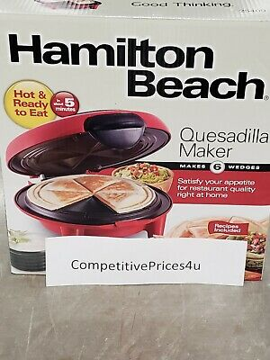 $39.99 • Buy Quesadilla Maker Hamilton Beach Durable Heavy Duty Kitchen Cooking Fast Shipping