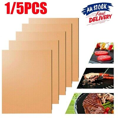 AU13.99 • Buy 1/5X Non-Stick BBQ Grill Mat Pad Resistant Outdoor Picnic Cooking Barbecue Tool