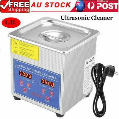 AU68.89 • Buy 1.3l Digital Stainless Ultrasonic Cleaner Ultra Sonic Bath Cleaning Timer Heate