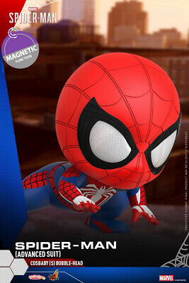 $ CDN40.41 • Buy Hot Toys Marvel Cosbaby Spider-Man Advanced Suit Bobble Head MIni Toys COSB769