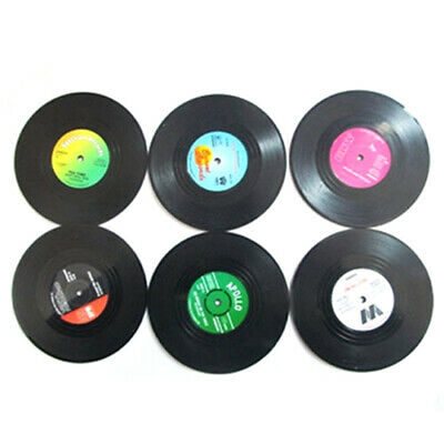 Retro Vinyl Record Rubber CD Coaster Table Coffee Drink Cup Mat Placemat Decor • 2.08£