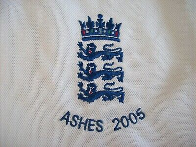 Vintage England Cricket Training Shirt Ashes 2005 (x Large) Admiral • 35.99£