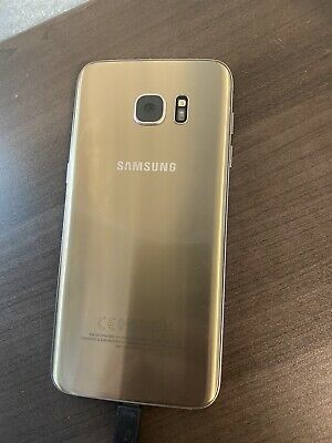 $ CDN100 • Buy (CRACKED SCREEN)Samsung Galaxy S7 Edge SM-G935 - 32GB - Gold Platinum (Unlocked)