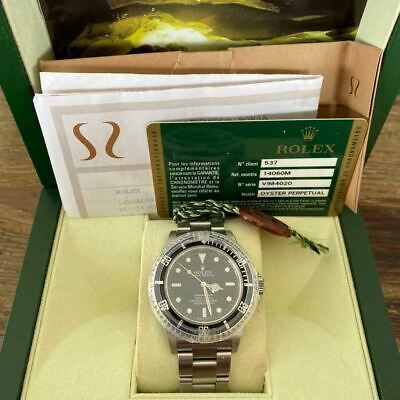 $ CDN12939.01 • Buy Rolex Submariner Ref. 14060m Unpolished Watch 100% Genuine Box And Papers 2010
