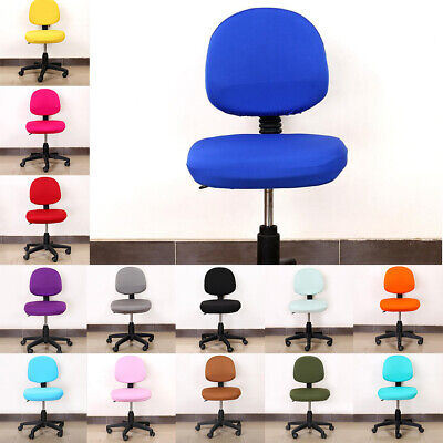 AU11.75 • Buy Universal Stretch Office Computer Chair Covers Rotating Chair Seat Slipcover