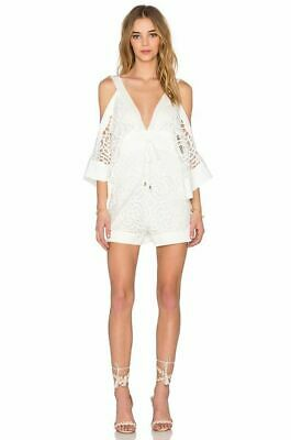 AU59.95 • Buy Alice McCall Keep Me There  White Lace Romper Playsuit Size S