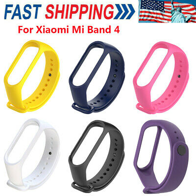 $6.99 • Buy Colorful Wrist Strap Bracelet Replacement For Miband 4 Xiaomi Mi Band Wristbands