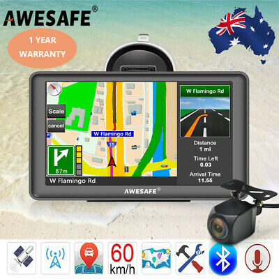 AU86.99 • Buy 7  Awesafe Truck Car GPS Navigator Free AU Maps With Bluetooth And Back Camera