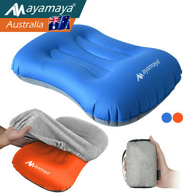 AU19.99 • Buy Ayamaya Inflatable Air Pillow Ultralight Portable Hiking Camping Travel W/ Cover