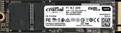 CT500P1SSD8 Crucial Technology 500 GB - M.2 - 1900 MB/s **New Retail** 3D NAND N • 70.93£