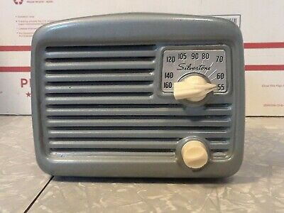 $ CDN63.58 • Buy Vintage Silvertone AM Tube Type Radio By Sears And Roebuck Tested Working