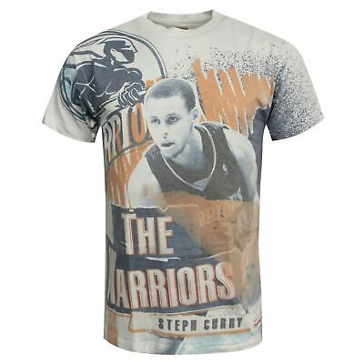 Mitchell & Ness Stephen Curry The Warriors T-Shirt Graphic Top GOLWAR • 9.99£