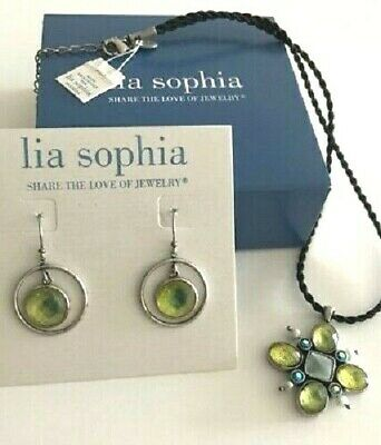 $ CDN29.83 • Buy Lia Sophia  Bloommates  Mother Of Pearl, Resin, Silver Earrings & Necklace Set