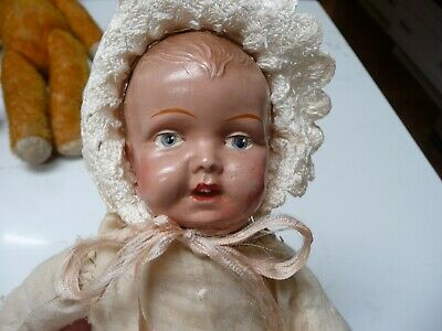 $19.90 • Buy Antique Vintage Louis Amberg Baby Doll Cloth Body Painted Eyes