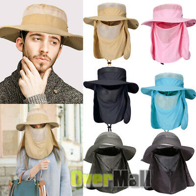 $16.71 • Buy Fashion Summer Outdoor Sun Protection Fishing Cap Neck Face Flap Hat Wide Brim