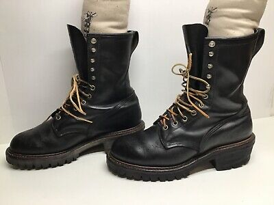 $69.99 • Buy Vtg Mens Red Wing Firefighter Black Boots Size 9 C