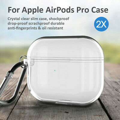 AU8.49 • Buy 2X Shockproof Clear TPU Soft Case Cover Transparent Holder For Apple AirPods Pro