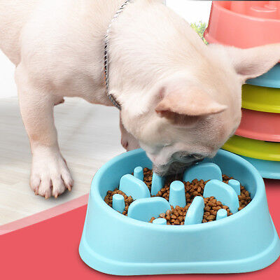 Slow Feeder Dog Bowl Anti Bloat No Gulp Puppy Pet Cat Interactive Feeding Dishes • 11.95£