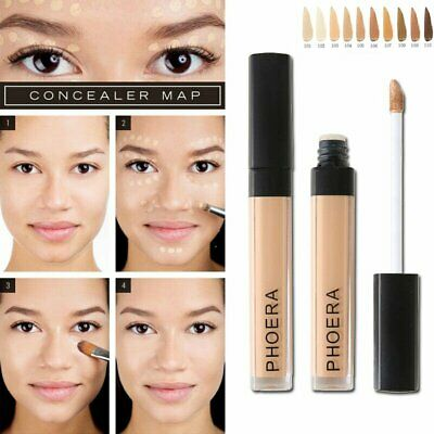 PHOERA Foundation Concealer Makeup Full Coverage Matte Brighten Long Lasting @I • 2.18£