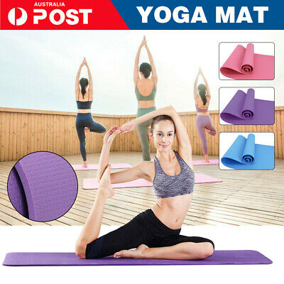 AU16.88 • Buy EVA Foam Yoga Mat Durable Thick Pad Non-Slip Exercise Pilate Fitness Gym Strap