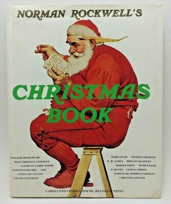 $ CDN16.67 • Buy Norman Rockwell's Christmas Book 1977 Carols Stories Poems + More - Hardcover