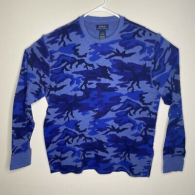$14.99 • Buy Polo Ralph Lauren Mens XL Blue Camo Waffle Thermal Shirt Long Sleeve Pre-Owned