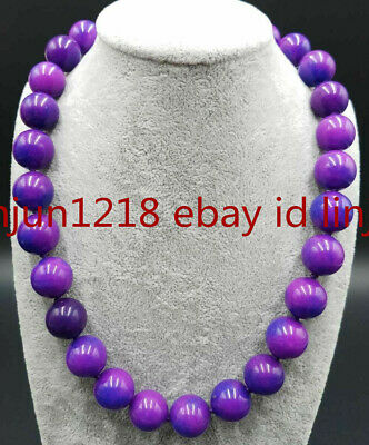 $9.99 • Buy Natural Huge 14mm Purple Sugilite Gemstone Round Beads Necklace 18'' AAA