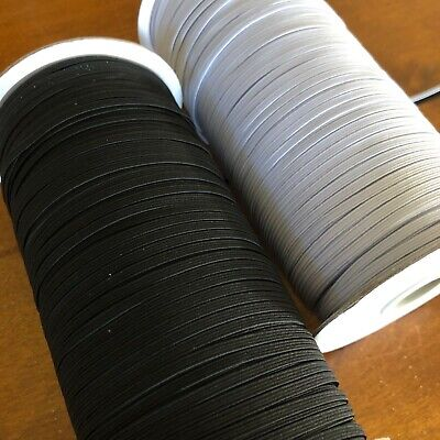 AU2.50 • Buy Elastic Braided Band For Sewing 3mm & 6mm Black Or White Premium Quality Elastic