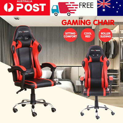 AU128.99 • Buy AYLESEA Gaming Chair Office Computer Leather Chairs Racer Executive Racing Seat