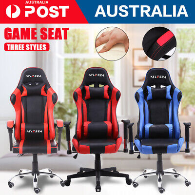 AU116.85 • Buy 2020 Gaming Office Chair Racing Executive Footrest Computer Seat PU Leather NEW