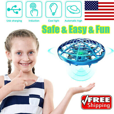 $9.69 • Buy Mini Drone Hand Operated UFO Levitation LED RC Helicopter Flying Toys For Kids