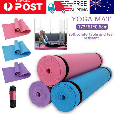 AU19.99 • Buy EVA Foam 4/6 MM NBR Thick Yoga Mat Pad Nonslip Exercise Fitness Pilate Gym