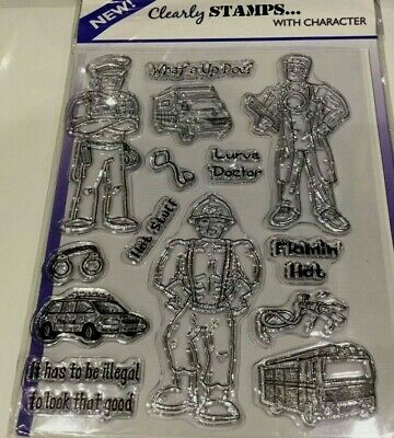 HUNKYDORY ~ Clear Stamps ~ Men In Uniform Two - New In Packet - Free P/P • 5.20£