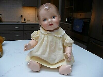 $37.86 • Buy Vintage Composition Baby Doll 15  Unmarked Dimples Jointed