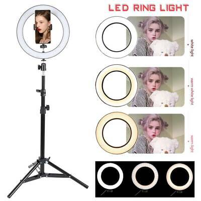 AU53.58 • Buy 57/53/30in Dimmable Ring Light 160 LED Diffuser Stand Phone Video Makeup Youtube