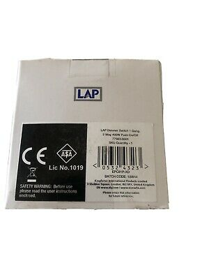 Lap Polish Crome  Dimmer Switch 1 Gang 2Way 400w Push On Off • 9.99£