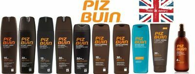£10.99 • Buy PIZ BUIN SUN Sprays Or Lotions SPF 6/15/30/50 And After Sun 200/150ml. Brand New