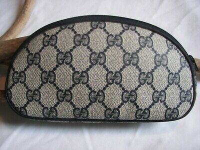 $124.99 • Buy Gucci Blue GG Canvas Leather Cosmetic Case Wallet Vintage Accessory Collection