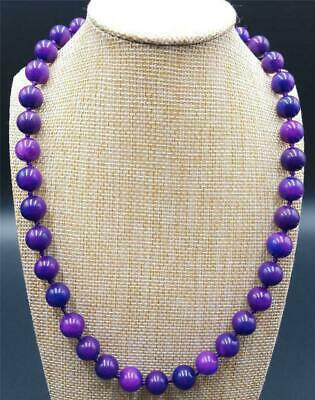 $3.50 • Buy 10mm Natural Purple Sugilite Gemstone Round Beads Necklace 18'' AAA++