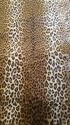 $200 • Buy Vintage Etro Arredamento Leopard Fur Fabric 2.5 YARDS Made In Italy