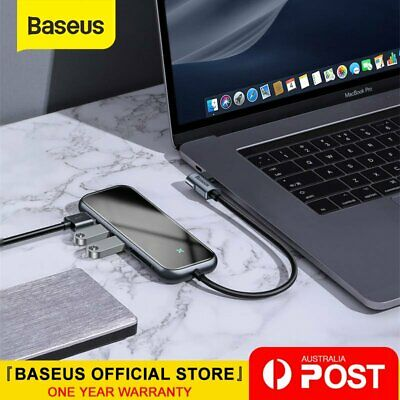 AU46.54 • Buy Baseus 7 In 1 USB C HUB Type C USB 4K HDMI SD/TF PD Output Adapter For MacBook