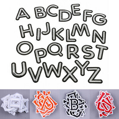 £3.29 • Buy 26 Alphabet English Patches Set Letters Embroidered Iron On Sewing Parches