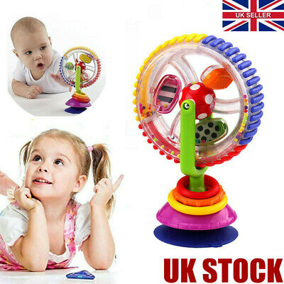 Baby Kid Infant Toys Rainbow Ferris Wheel Rattle Clanking Suction High Chair Toy • 6.99£